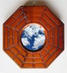 Miroir pakua convexe, les talismans de protection sont activés pour un effet maximal de protection