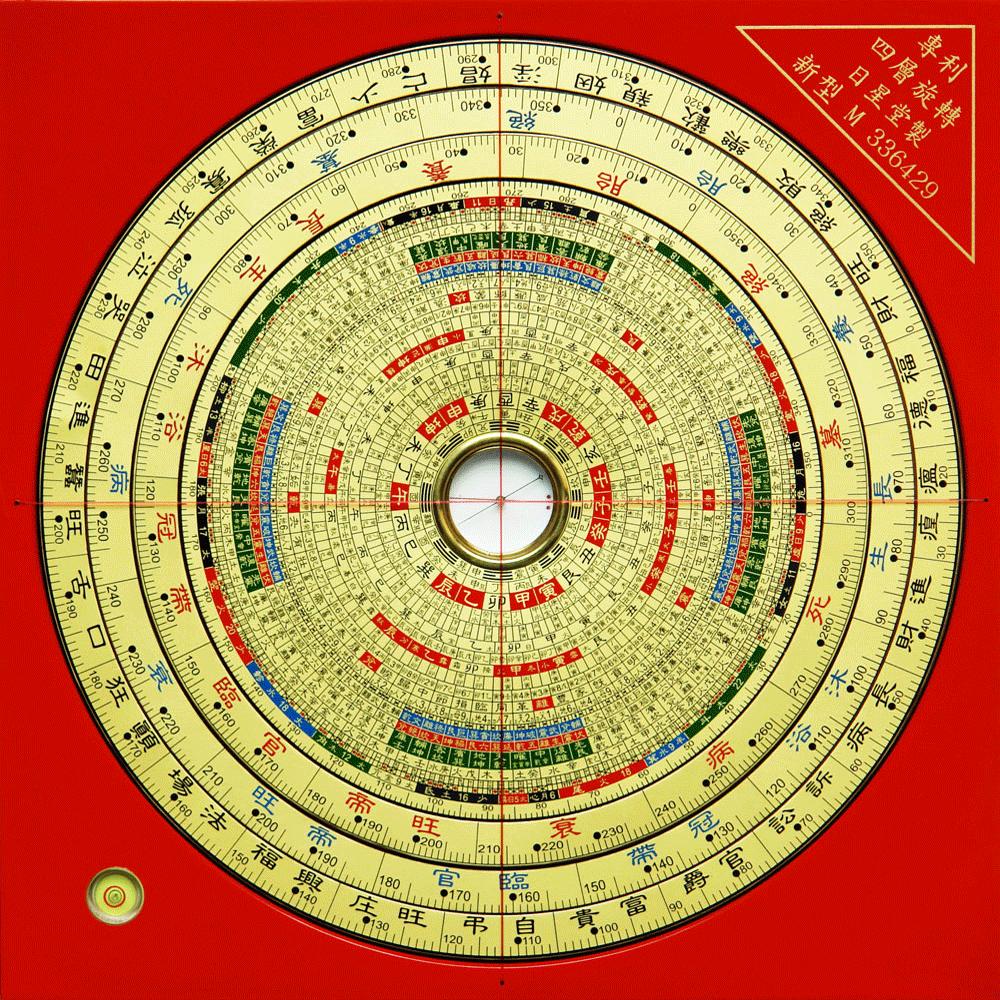 Luo pan Zhong He en couleurs à 4 anneaux rotatifs