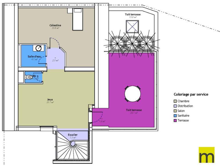 Conception feng shui - 2ème étage