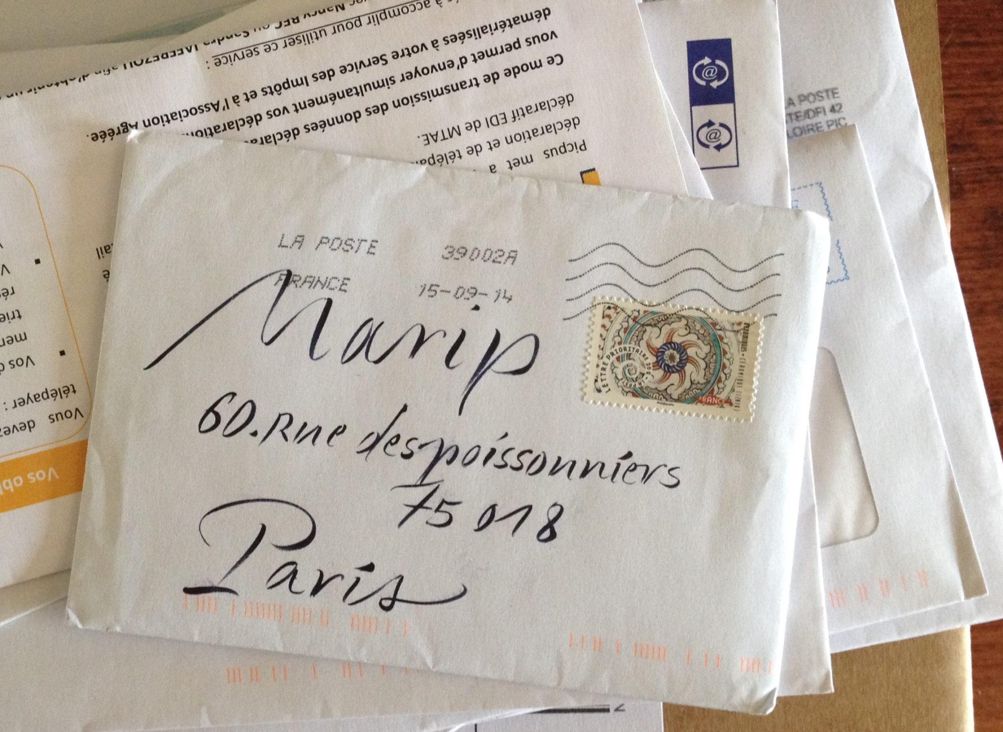 Un vrai courrier